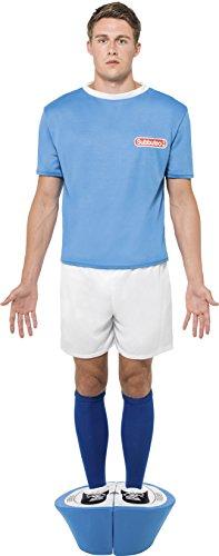 Smiffys Men's Table Football Player Costume - Blue Strip