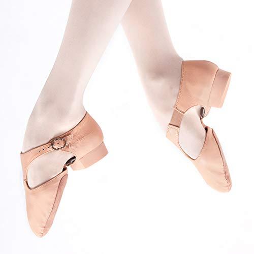 LFEWOX Ballettschuhe, Leder Breathable Flat Shoes Split Schuhe Tanzschuhe Damen Gymnastik Yoga Schuhe Damen Kinder Damen Jazz Coach Training Schuhe Größe,Pink,EU40=UK6.5=250mm