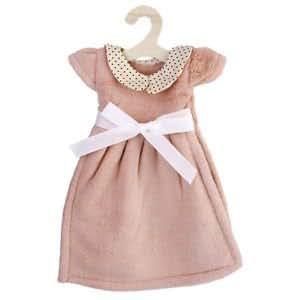 Kitchen Bath Fleece Round Collar Dress Bow Hanging Hand Towel w/ Hanger Pink