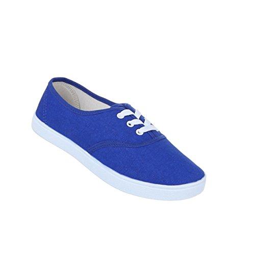 Damen Schuhe Freizeitschuhe Schn眉rer Sneakers Blau