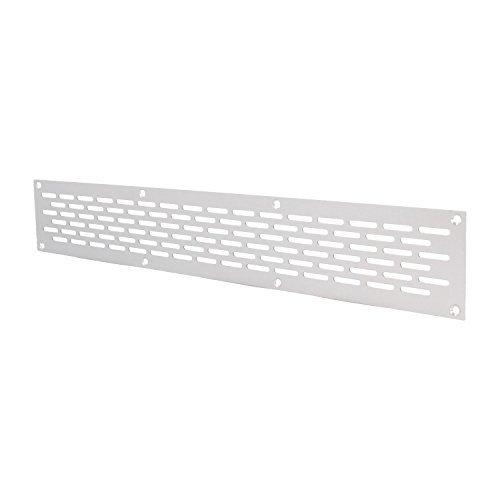 MS Beschl/äge/® Aluminium Lochblech L/üftungsgitter L/üftung Breite 100mm Lochung 20mm x 3mm Silber eloxiert 100mm