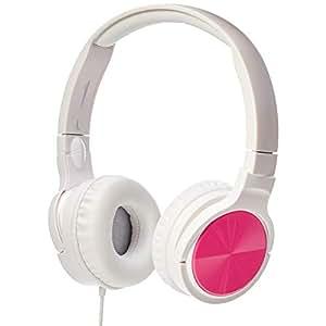 AmazonBasics Lightweight On-Ear Headphones - Pink