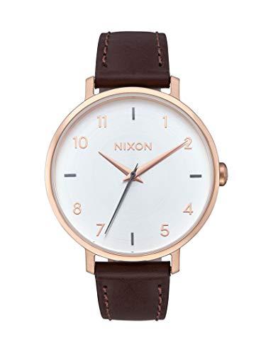 Nixon Damen Analog Quarz Uhr mit Leder Armband A10912369-00