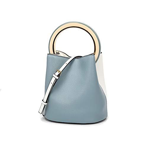SENWEI Damenmode Einfache Smashing Tragbare Anti-Diebstahl-Tasche Große Kapazität Einzelne Schulter Diagonal Tasche Napa Leder Verschleißfeste 3 Farbtextur Kleine Quadratische Tasche,Blue - Tasche Wildleder Leder Nagel