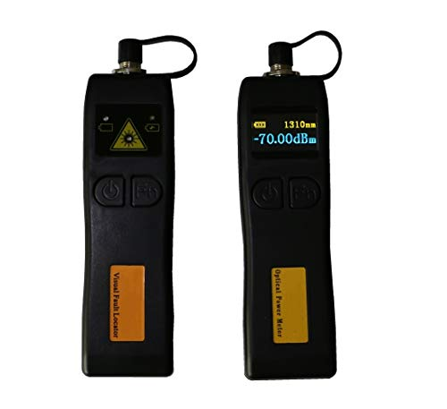 Mini Fiber Optical Power Meter -70 ~+6dBm and 5km 1MW Visual Fault Locator Fiber Optic Tester, 2 In 1 FTTH Fiber Optic Tool Kit