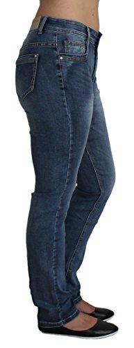 BBS-Jeans -  Jeans  - straight - Basic - Donna Blau