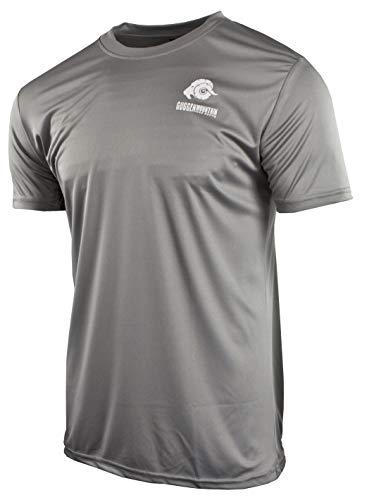 GUGGEN Mountain Herren Funktiosshirt Funktionswäsche Funktions T-Shirt Sport Outdoor Aktivitäten Schnelltrocknend Kurzarm Atmungsaktive Dunkelgrau L