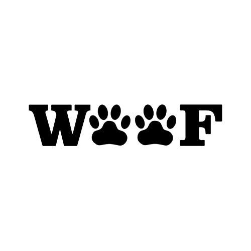 DYTE Tier Aufkleber 15,2 cm * 3,3 cm Druckt Haustier Aufkleber Auto Aufkleber Tier Rettungshund Schwarz/Silber