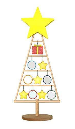 DreherDisplay Weihnachtsbaum aus Holz - Schöne Weihnachtsdeko zum Basteln als Adventskalender zum selbst befüllen - Dekobaum aus Echtholz | Alternative zu Tannenbaum und Fichte | 90 cm