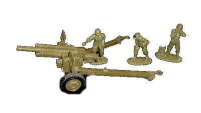 Classic Toy Soldiers, Wwii Us 105mm Cannon With 3 Man Crew In 1/32 Scale