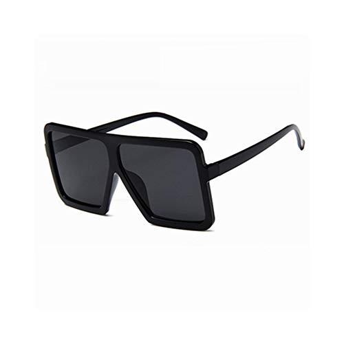 WJFDSGYG Übergroße Quadratische Sonnenbrille Frauen Designer Große Männer Mans Black Sun Glasses Female Uv400 Transparent Frame