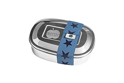 Brotzeit Boîte à lunch avec division en acier inoxydable - boîte à pain - Lunchbox (Etoiles Jeans)