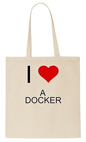 I Love A DOCKER Tote Bag