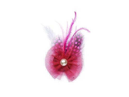 """La Loria - Donna Clip Decorative Per Scarpe """"Rising Sun"""" Gioielli, Spille, le clip del pattino in colore rosa - 1 Coppia"""