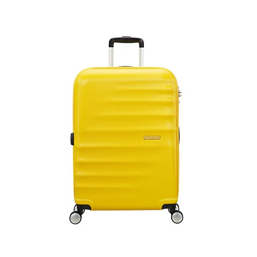 american-tourister-wavebreaker-4-rollen-trolley-67-cm-sunny-yellow