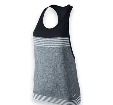 Nike-loose-training Top (Nike Damen Tanktop Dri-Fit Loose Classic Charcl/Black/Pure Platinum, XL)