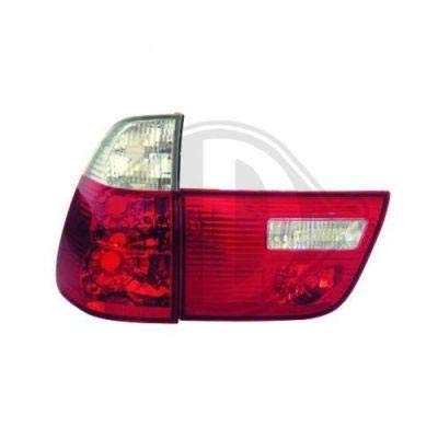 DEL Feux arrières en rouge blanc BMW x5 e70 03.07-05.10
