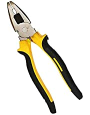 DeoDap Professional Tools - Sturdy Steel Combination 8-Inch Pliers (Yellow and Black)