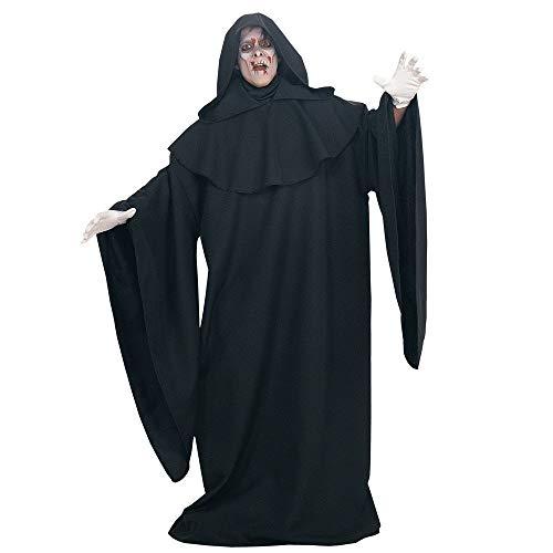 KODH Halloween Cosplay Mantel Dunkle Männer und Frauen Zauberer Robe Dämon Folgen Magischer Zauberer Vampir Bühnenkostüm (Color : Black, Size : M) (Männer Böse Zauberer Kostüm)