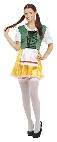 6 Bier Mädchen Kostüm, Multicoloured, Frauen: 38-42 ()