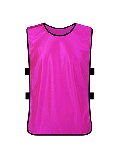 Shaoyao Weste/Markierungshemden/Trainingsleibchen/Trainings-Leibchen/Basketball/Football Für Teamsportbedarf - Fußballtraining Rose Adult Plus Size