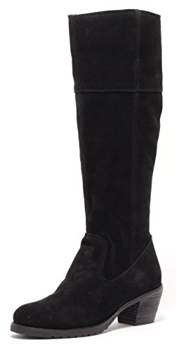 ECHT LEDER Damen Stiefel Lederstiefel Country Style Gr.38-40 SCHWARZ (38)