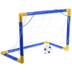 MG Universal Mini Football Soccer Goal Post Net Set with Pump Kids Sport Indoor Outdoor Toys
