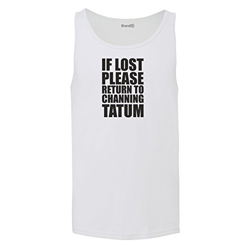 Brand88 - If Lost Please Return To Channing Tatum, Unisex Jersey Weste Weiß