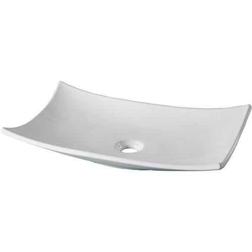 Vasque à poser rectangle légérement évasée