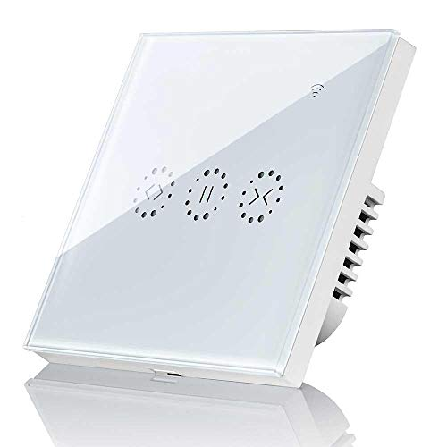 Interruptor Persiana Wifi, KOBWA Interruptor Cortina Wifi Compatible con Alexa y Google...