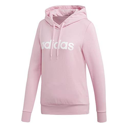 adidas Performance Essentials Linear Kapuzenpullover Damen rosa/weiß, XS
