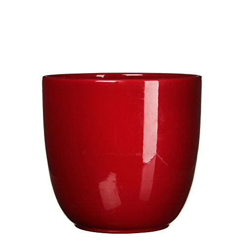 Mica Decorations 144810 Tusca Pot Ronde Rouge F - H25xd28cm