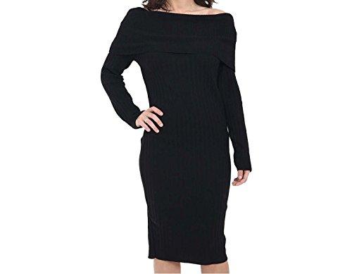 ff-mujeres-damas-de-manga-larga-de-hombro-cosido-punto-puente-bardot-midi-vestido-one-size-negro