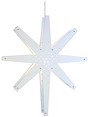 Star 268-48 Tall Étoile Accrochable Lumière Blanc Bois/Métal 70 x 60 cm