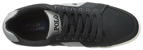 Polo Ralph Lauren Hugh-sk-vlc Fashion Sneaker Polo Black/Museum Grey