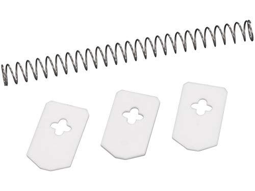Leifheit Ersatzteile, 3 Abstreifgummis und Feder, passend für Leifheit Kirschentkerner Cherrymat Art. Nr. 37200 und 37209