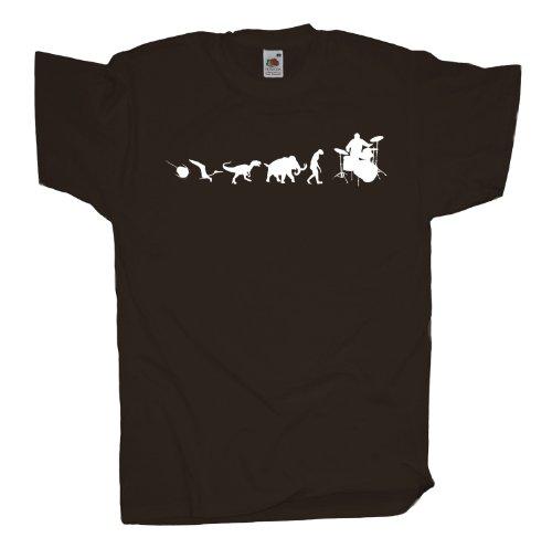 Ma2ca - 500 Mio Years - Drummer T-Shirt Chocolate