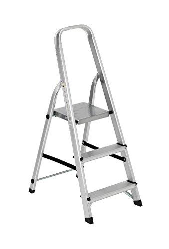 Galleria fotografica Scala alluminio Everest 3 gradini Per uso domestico e bricolage Portata max 150 kg.