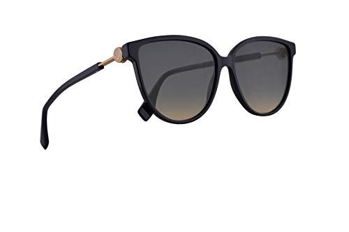 Fendi FF0345/S Sonnenbrille Blau Mit Blauem Verlaufsglas Gläsern 59mm 0T79O 0345S FF0345S FF 0345/S