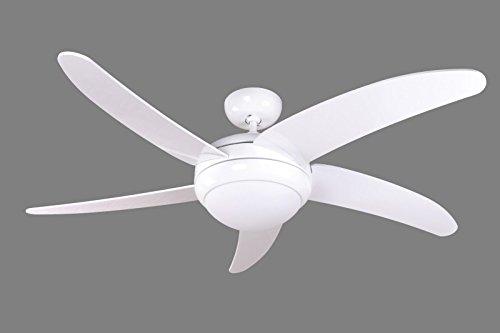 Ventilatore da soffitto con luce colore cromo e pale perenz