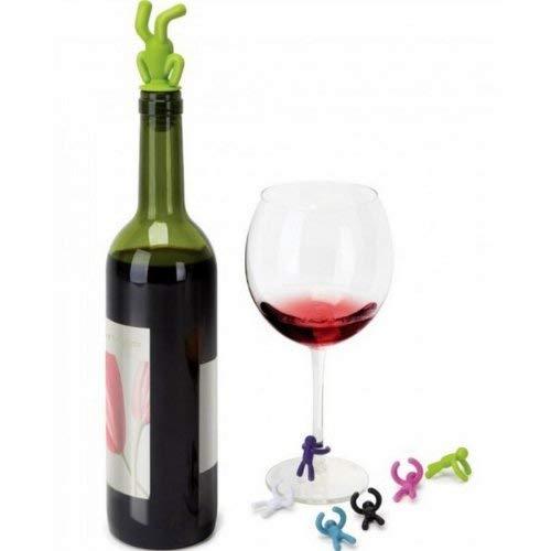 Edzard Tappo per Bottiglia nel Design Classico per Champagne Vino e Prosecco Argento pregiato Placcato e antiossidante Altezza 6 cm