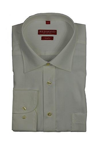 Redmond - Bügelfreies Herren Langarm Hemd in verschiedenen Farben, Stil: Regular Fit (150100), Größe:37/38(S);Farbe:Creme(02) (02 Creme)