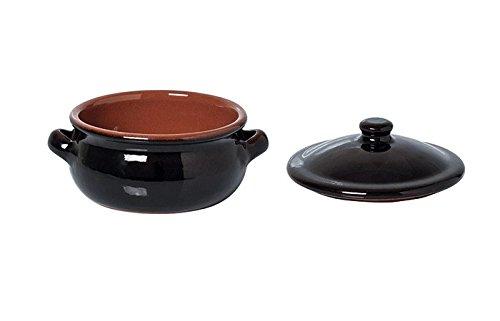 Cocotte en terre cuite avec couvercle, diamètre 150mm