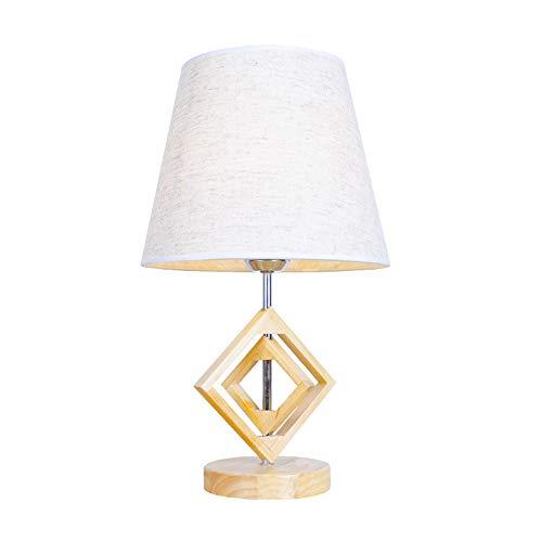 LL-Enyoyy Massivholz Tischlampe, Moderne Schreibtischlampe, Nordic Retro Creative Study Hotel Schlafzimmerlampe