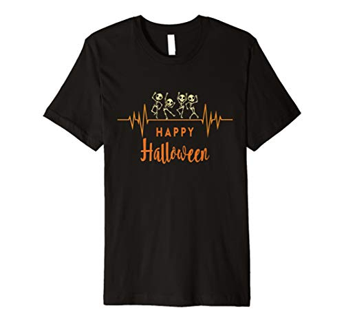 (Skelett Herzschlag Happy Halloween T-Shirt Arzt oder Krankenschwester)