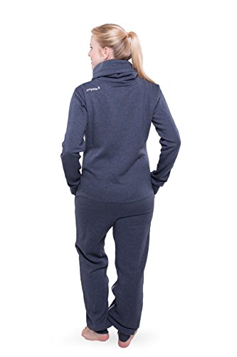Jumpster Damen Herren Jumpsuit Turtleneck Onesie Exquisite Regular Fit Blau L - 4