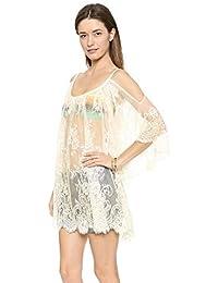 d1cef151644 HITSAN INCORPORATION New Beach Lace Cover Up Women Pareo Playa Coverup Dress  Vestido Livre Swimsuit Swimwear