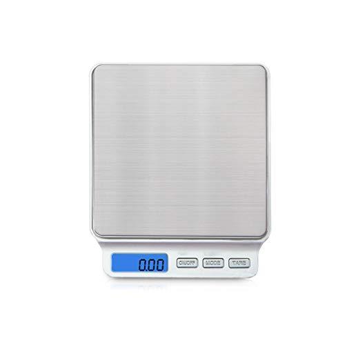 Edelstahl-Küchen-Backen-elektronische Skala, LCD-Anzeigen-Nachtsicht-Hintergrundbeleuchtung G/Unze/Ozt/ct/gn/DWT, das Werkzeug wiegt, 0,1 Präzisions-Mini-elektronische Skala, zum des Behälte Bottom-lcd-bildschirm-anzeige