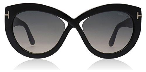 Tom Ford Unisex-Erwachsene FT0577 01B 56 Sonnenbrille, Schwarz (Nero Lucido/Fumo Grad),