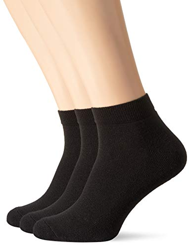 Fruit of the Loom Unisex Quarter Socken, Schwarz (Black 36), Medium (3er Pack) (Strümpfe The Loom Of Fruit)